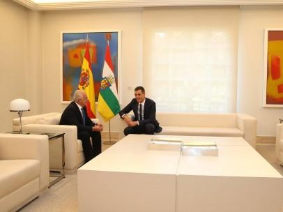 Encuentro entre Pedro Sánchez y José Ignacio Cenicero, presidente de La Rioja