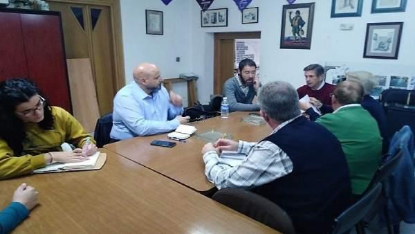 Reunión de los candidatos de Adelante Andalucía con Arco del Consuelo.