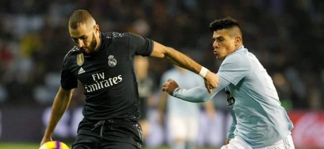 Karim Benzema, en el partido entre el Celta de Vigo y el Real Madrid.