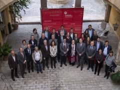 Participantes en la firma del convenio