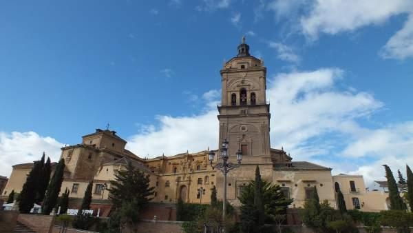 Imagen de la ciudad de Guadix, con la catedral
