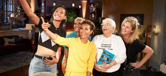 Jada Pinkett Smith durante la emisión de su programa 'Red Table Talk'