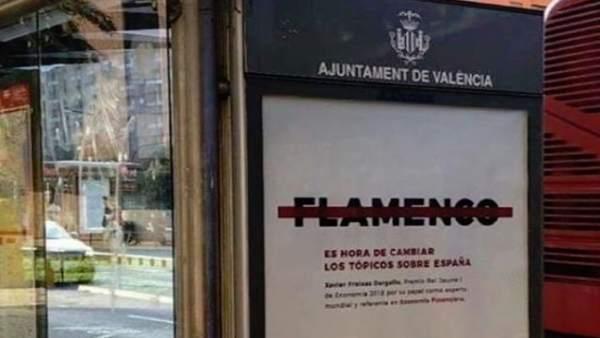 Demanen la retirada d'una campanya perquè apareix ratllada la paraula flamenc