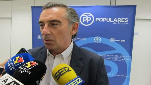 El Presidente Del PP Aragón, Luis María Bemonte