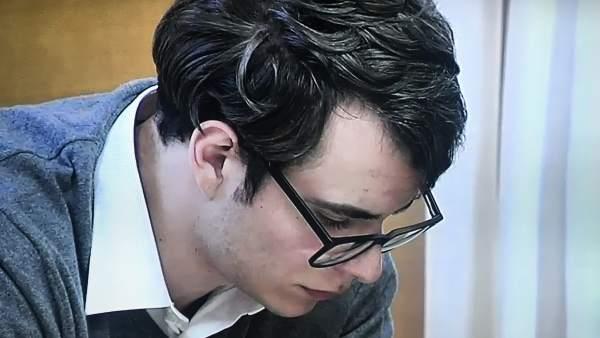 Patrick Nogueira en la segunda sesión del juicio por el crimen de Pioz