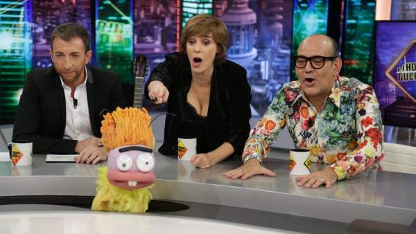 Anabel Alonso y José Corbacho, en 'El hormiguero'.