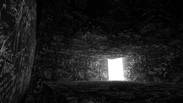 La instalación 'Chalkroom ideada por la artista multimedia Laurie Anderson
