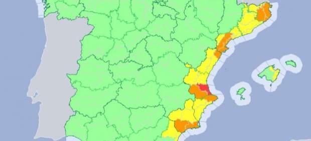 El tiempo este jueves estará marcado por las fuertes lluvias en el área mediterránea con 9 ...