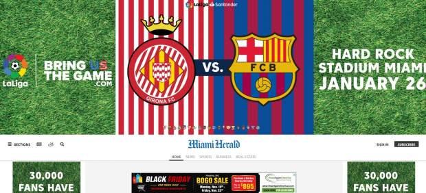 LaLiga compra publicidad en el Miami Herald para pedir que se juegue el Girona-Barcelona