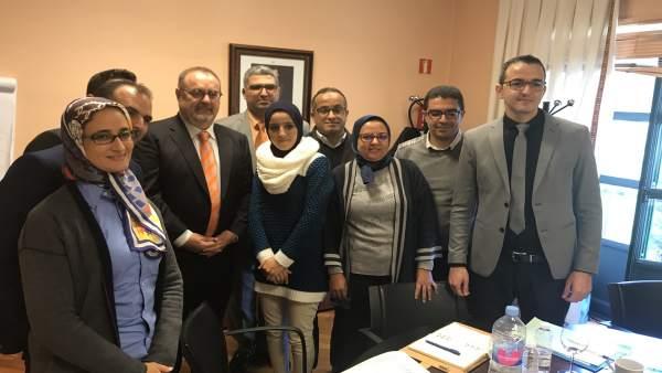 Encuentro de Rey y la delegación marroquí.
