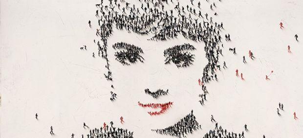 Cuando cientos de 'personitas' forman un rostro famoso