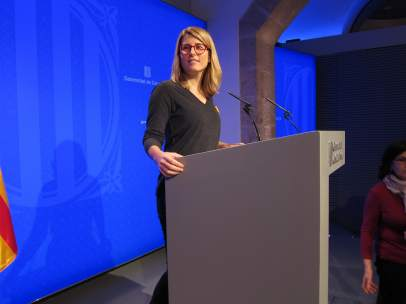 La consellera de Presidencia y portavoz del Govern, Elsa Artadi.