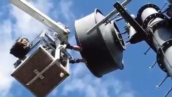 Encuentran un 'pesado tesoro' en una antena