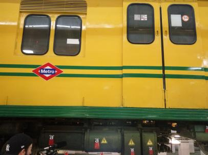 Tres antiguo de Metro de Madrid