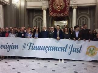 Acte en favor d'un finançament just celebrat en l'Ajuntament de València