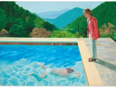 Retrato de un artista (piscina con dos figuras)