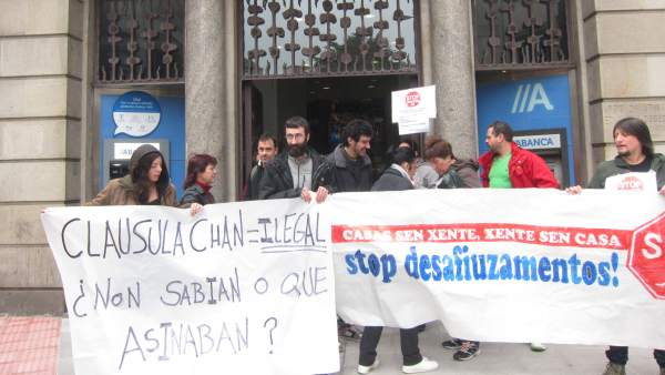 Protesta de Stop Desahucios