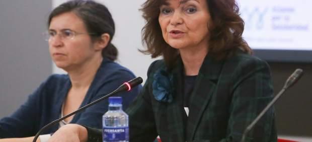 Carmen Calvo condena el crimen de Palma y afirma que