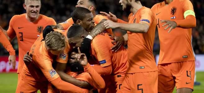 Holanda celebra un gol