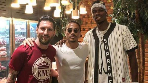 Messi, Salt Bae y Pogba