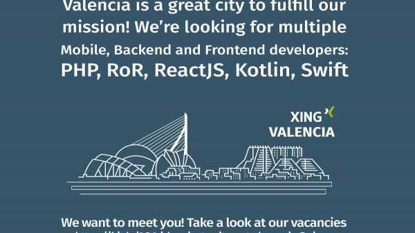 Cartel de Xing en València
