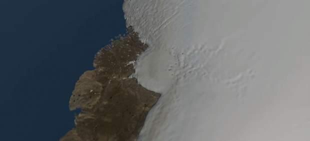 Descubren bajo el hielo de Groenlandia uno de los mayores cráteres del planeta