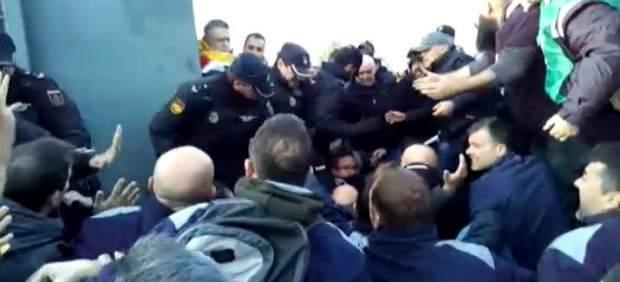 Tensión en el primer día de la huelga de funcionarios de prisiones