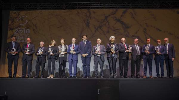 Foto de familia de los Premios Macael 2018