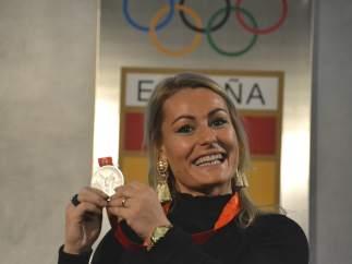 Lydia Valentín recibe la medalla de plata diez años después de Pekín 2008