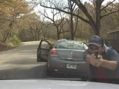 Espectacular tiroteo en Arkansas grabado desde un coche de policía