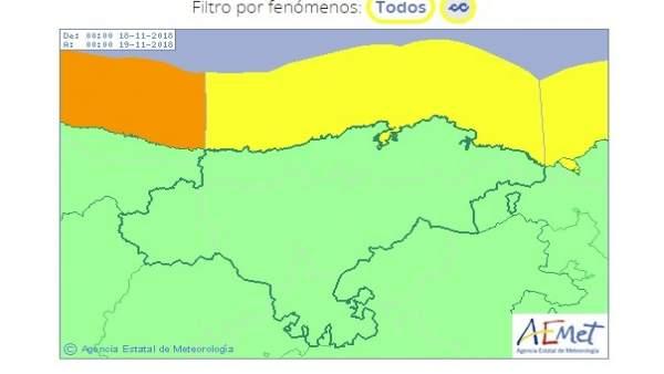 Riesgo amarillo por oleaje en Cantabria