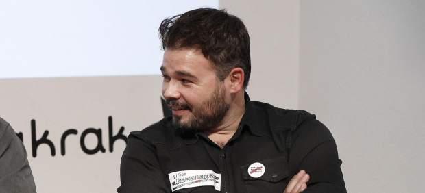 Gabriel Rufián pregunta a Podemos si apoyaría los Presupuestos con Pablo Iglesias en la cárcel