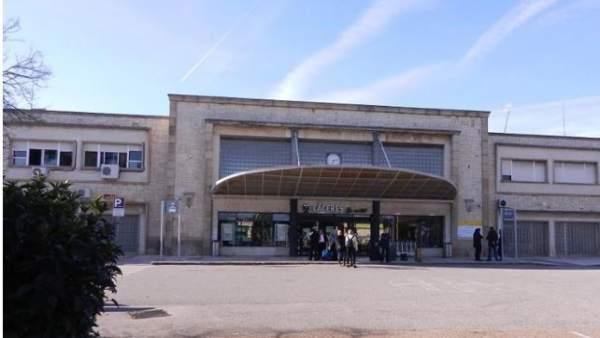 Estación de tren en Cáceres de donde partirá la manifestación del 18-N