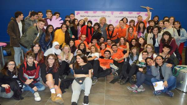 Participantes en el II Encuentro de jóvenes contra la violencia de género