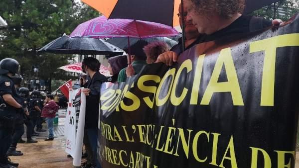 Protestas en la UPV