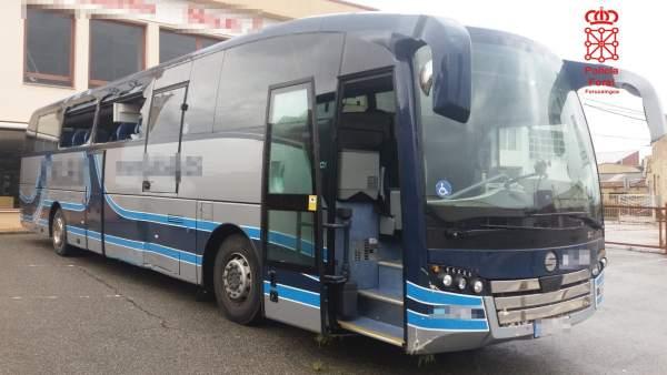 Autobús sustraido por el detenido
