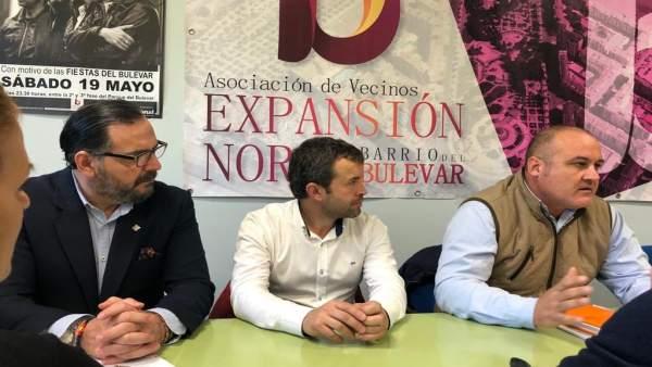 Reunión entre Julio Millán, la asociación Expansión Norte y Ciudadanos por Jaén
