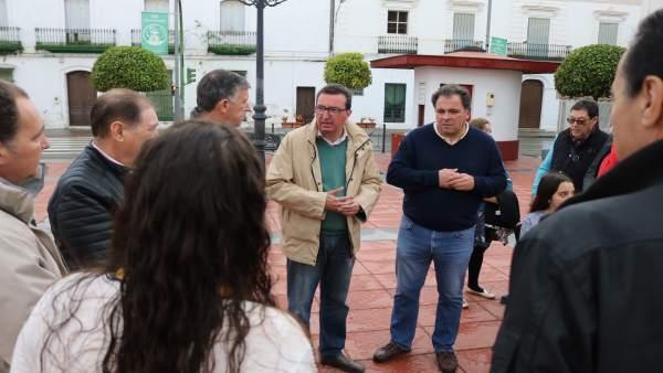 Manuel Andrés González (PP), en San Juan del Puerto
