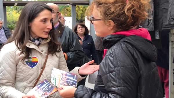 La candidata de Cs por Jaén Mónica Moreno