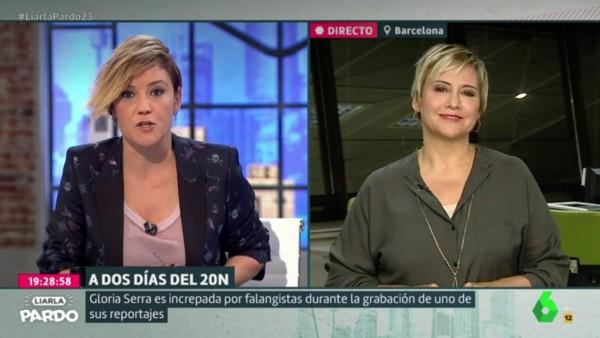 Gloria Serra entrevistada por Cristina Pardo