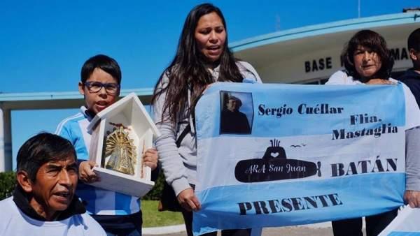 Manifestación de familiares de los tripulantes del ARA San Juan