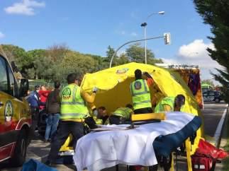 Muere el menor al que habían logrado reanimar tras ser atropellado cuando iba en bicicleta por Madrid