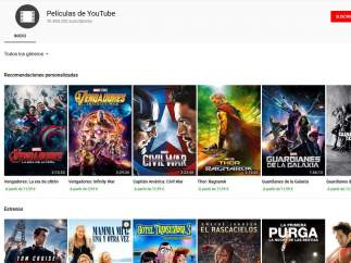 'Matrix', 'Terminator' o 'Rocky' entre el catálogo de películas que ofrecerá Youtube de forma gratuita