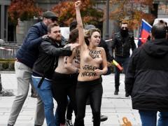 Femen acto fascista Madrid