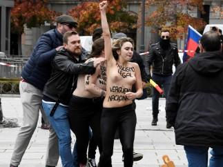 Detenido un miembro de Falange por el altercado del pasado domingo con tres activistas de Femen