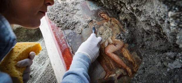 Descubren en Pompeya una escena de
