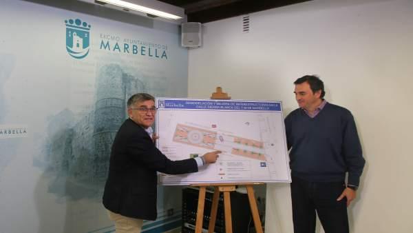 Rueda de prensa de la Junta local de Marbella