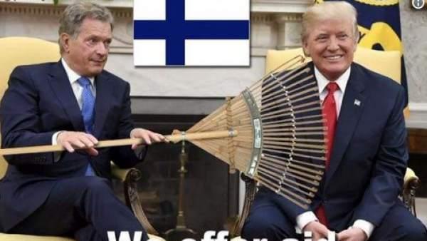 Memes de Trump y Finlandia