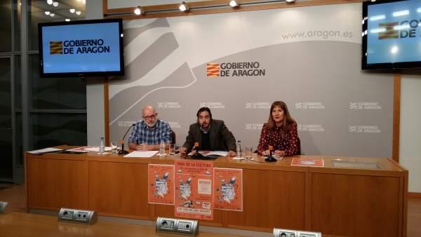 Presentación de la Feria del Libro Aragonés, que se desarrollará en Monzón