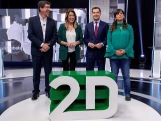 Debate Elecciones Andalucía | Díaz defiende su gestión ante un PP y C's en guerra y una Rodríguez comedida